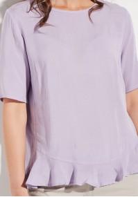 Fioletowa bluzka z falbaną