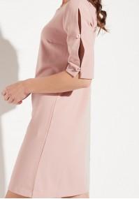 Różowa Elegancka Sukienka