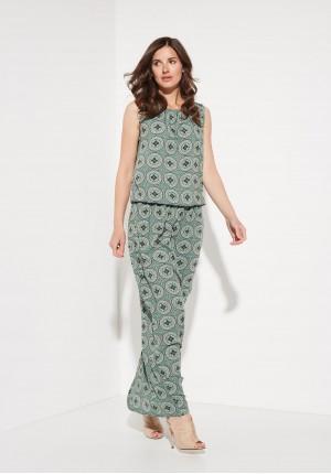 Sukienka Maxi w kolorze Zielonym