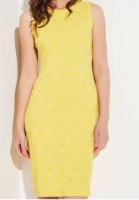Ołówkowa żółta sukienka