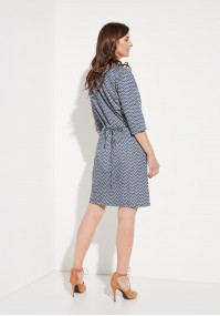 Dress with Zigzags
