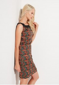 Dress with squares