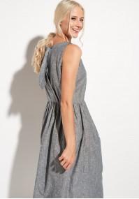 Lniana Sukienka Maxi