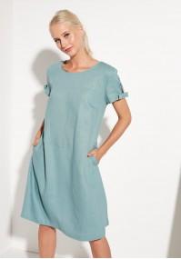 Sukienka midi z kokardkami