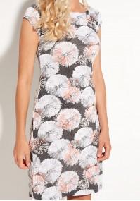 Orange Dress with dandelions