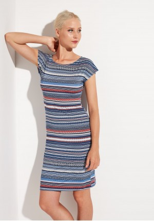 Dress with horizontal stripes