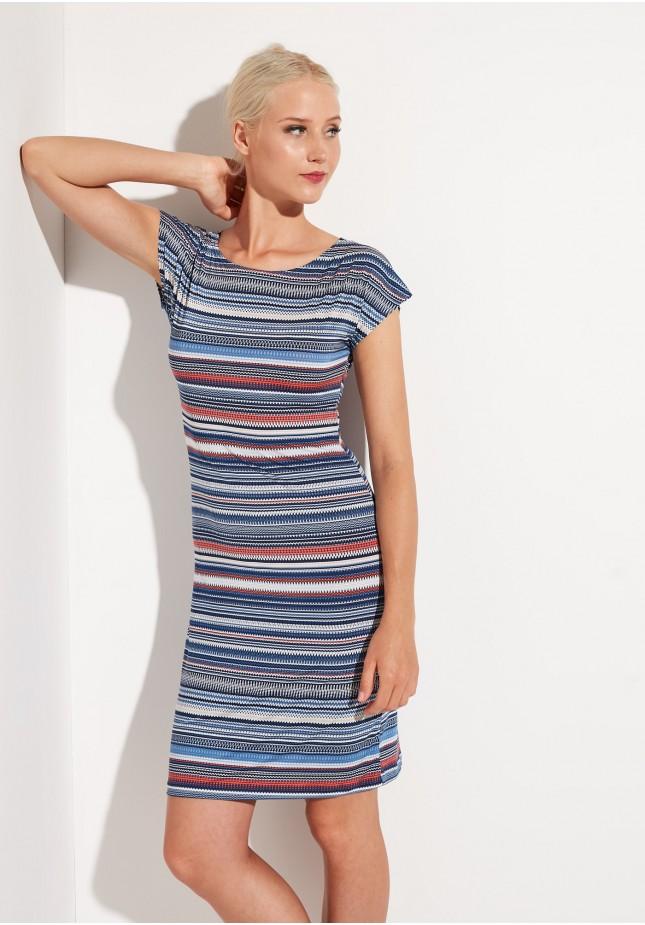 Dress with horizontal stripes