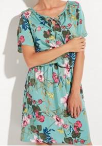Zwiewna seledynowa sukienka