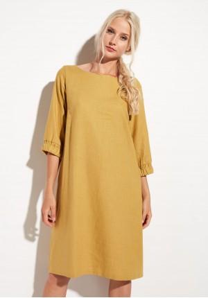Sukienka 1368 (musztardowa)