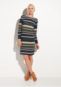 Comfortable Dress with green stripes