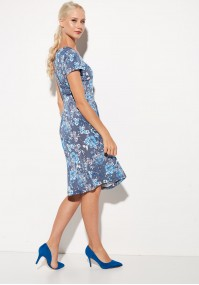 Blue flowery dress
