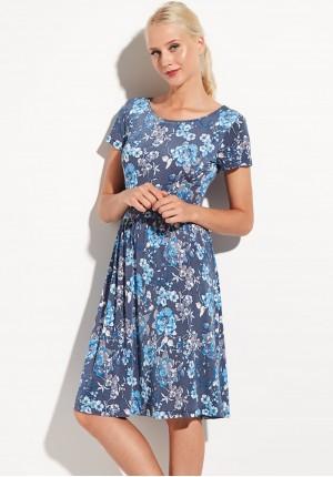 Blue flowery dress