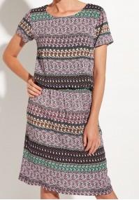 Fioletowa sukienka z marszczeniem