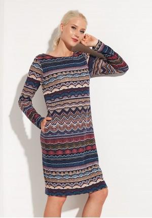 Prosta sukienka w zygzagi