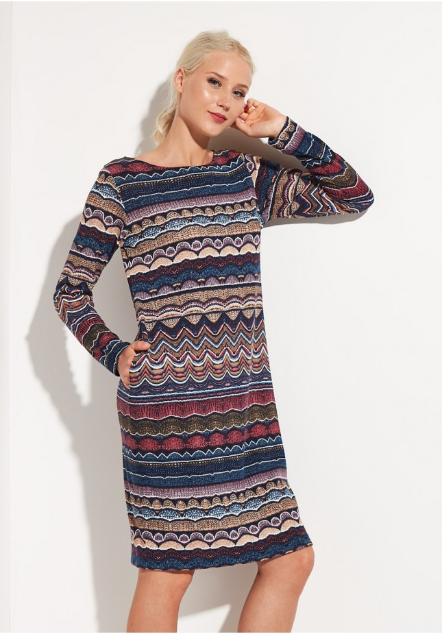 Straight Dress with zigzags