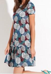 Sukienka 1263 (z turkusem)