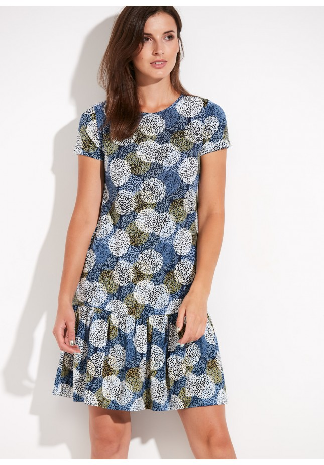Dress with a wide frill