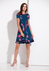 Sukienka 1258 (z różowym)