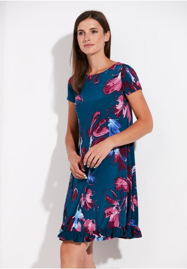 A-line flowery dress
