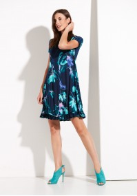 Sukienka 1258 (z turkusem)
