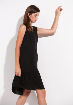 Black Dress with Frill