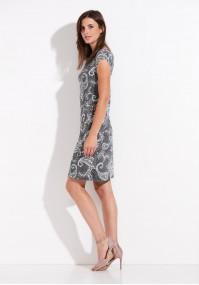Szara sukienka z paisley