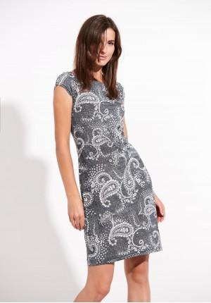 Sukienka 1323 (szara)