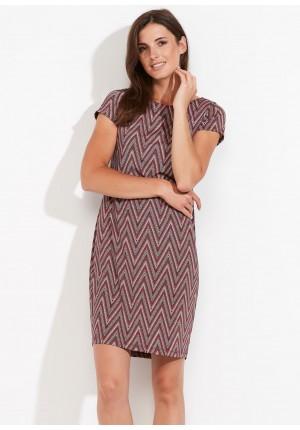 Red Short-sleeves dress