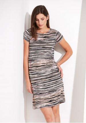 Sukienka w drobne poziome paski