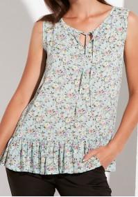 Pastel flowery blouse