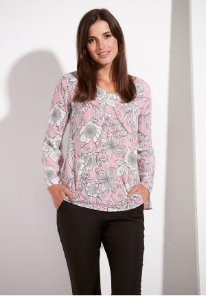Bluzka 3815 (różowe paski)