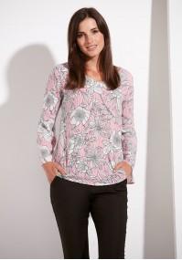 Cienka różowa bluzka