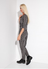 Brown and Black Jumpsuit