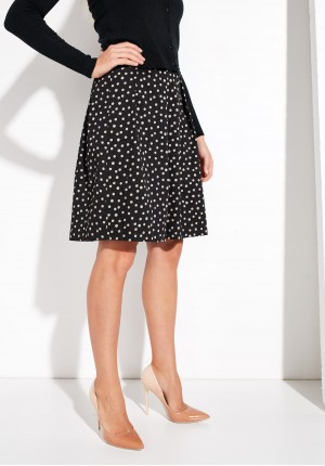 Black loose polka dots Skirt