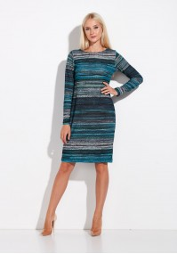 Knitted turquoise Striped Dress