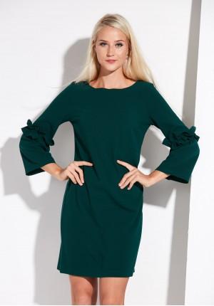 Klasyczna ciemnozielona sukienka