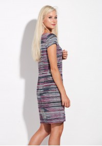 Casual Pink Striped Dress