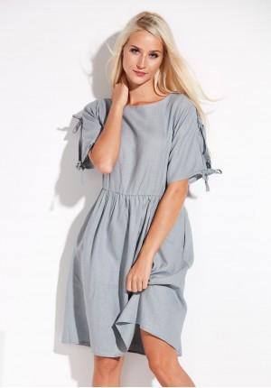 Linen Grey Dress
