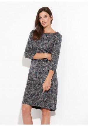 Dzianinowa sukienka paisley