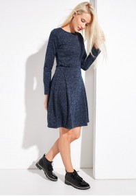 Knitted Dress with pleat