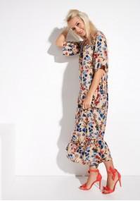 Długa sukienka z falbaną