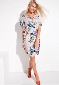 Wiskozowa sukienka w kwiaty