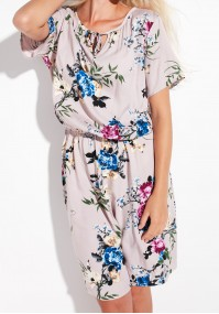 Viscose Dress with Flowers