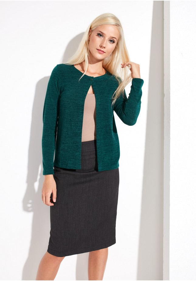 Green Sweater with Button