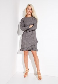 Checked grey dress