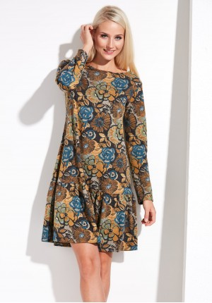 Flowery autumn dress