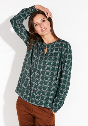 Zielona wiskozowa bluzka