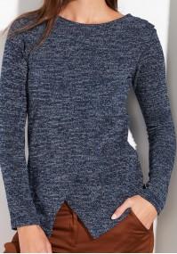 Kopertowy granatowy Sweter
