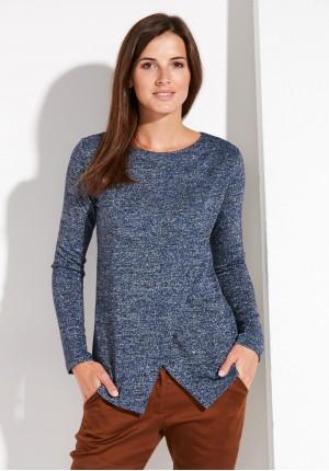Granatowy Kopertowy Sweterek