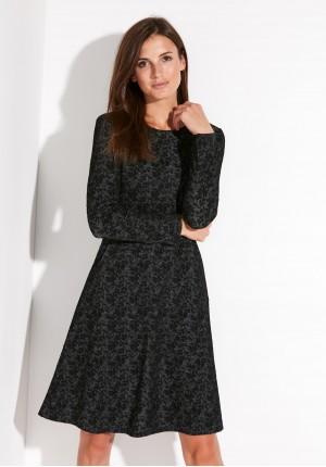 Czarna Sukienka z kieszeniami